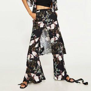 Zara Flare Printed Trousers